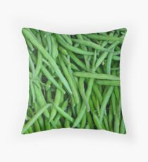 Fresh green beans Throw Pillow