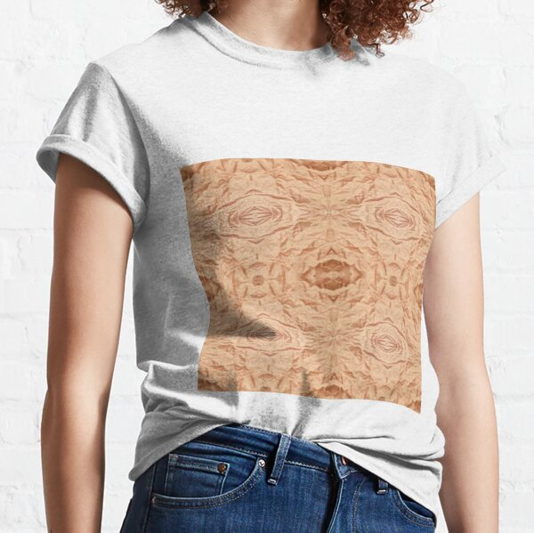 Copy of Crumpled matter, silk, wavy, dark, material, fabric, wallpapers, pictures, photos, black fabric Classic T-Shirt