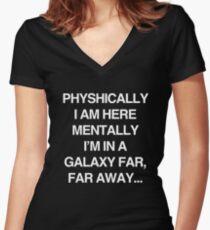 Galaxy Far Far Away Women's Fitted V-Neck T-Shirt