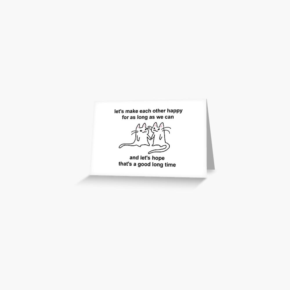 Carte de vœux «rendons-nous heureux»