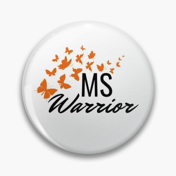 MS Warrior Orange Butterflies Pin