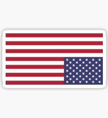 U.S. flag - UPSIDE DOWN & MIRRORED Sticker