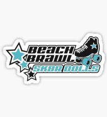 BEACH BRAWL SK8R DOLLS Sticker