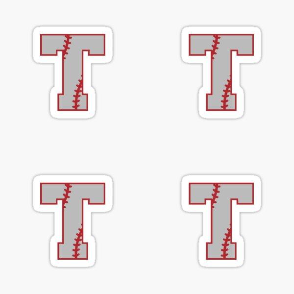 Letter T Monogram | Baseball Sticker