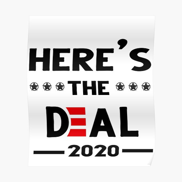 Here's the deal 2020 Poster