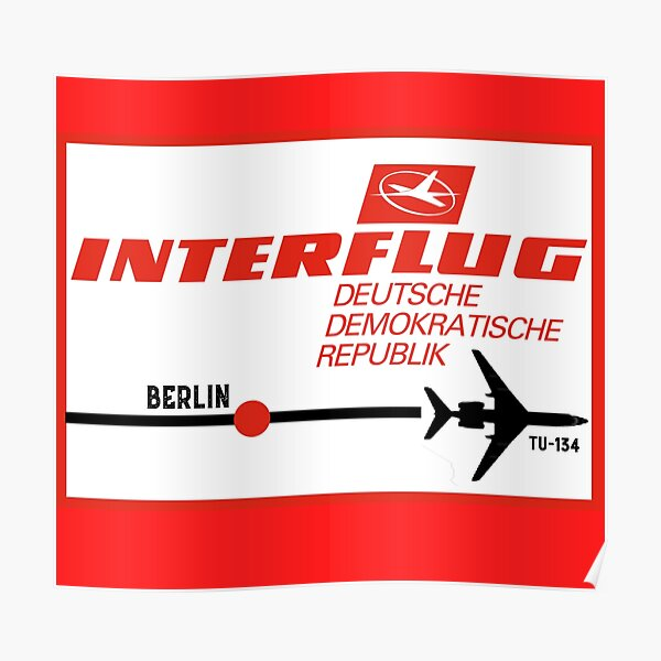 Interflug Berlin DDR Poster