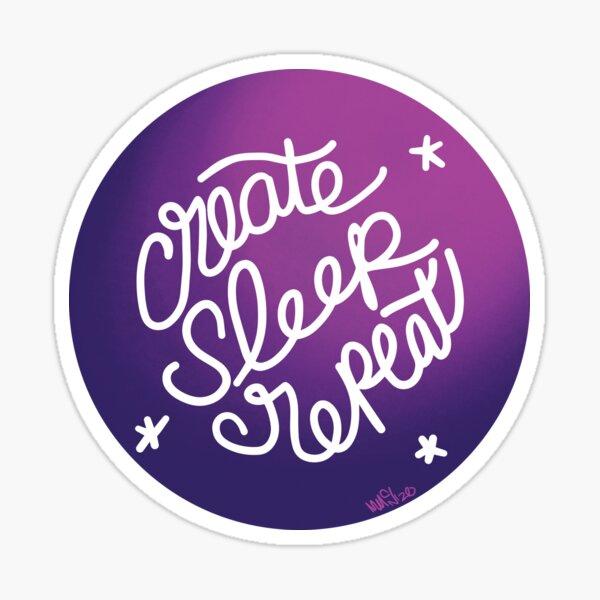 Create Sleep Repeat Sticker
