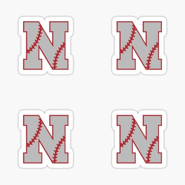 Letter N Monogram | Baseball Sticker