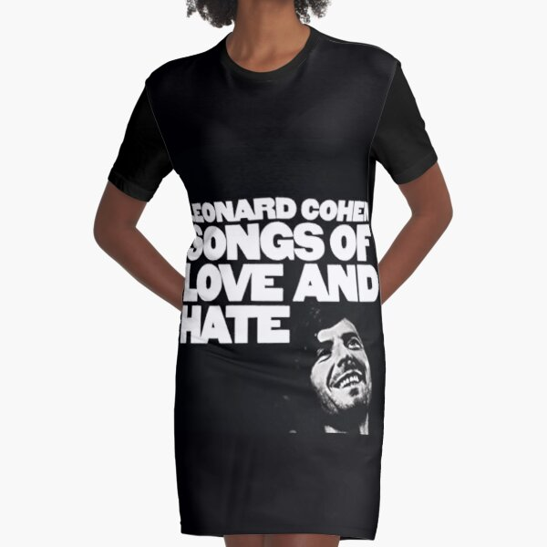 Leonard Cohen Songs Of Love And Hate Graphic T-Shirt Dress