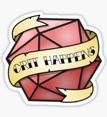 Crit Happens Sticker