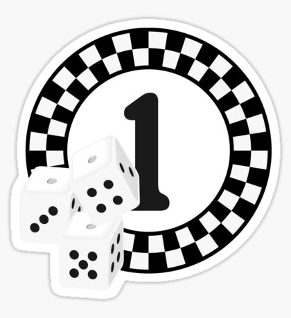 Bunco Dices - Table No One VRS2 Sticker