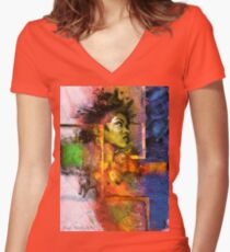 Lauryn Hill Women's Fitted V-Neck T-Shirt