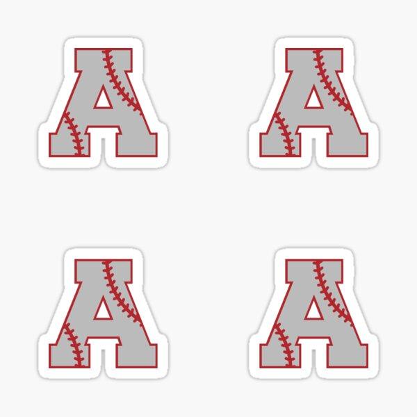 Letter A Monogram | Baseball Sticker