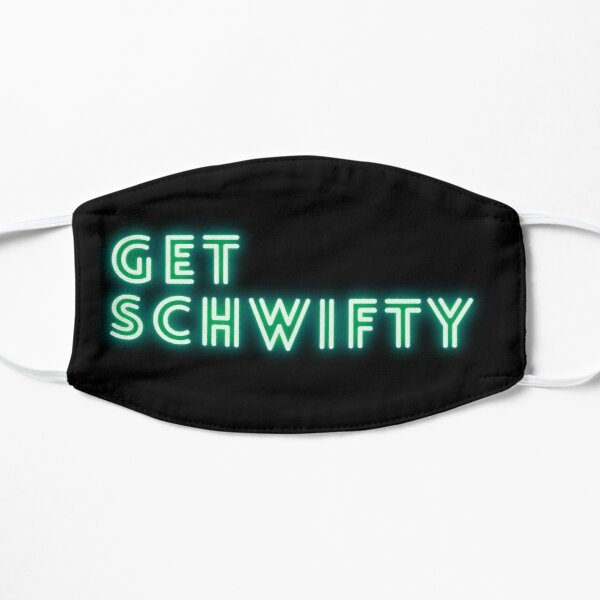 Get Schwifty Retro Green Neon - Rick and Morty Mask