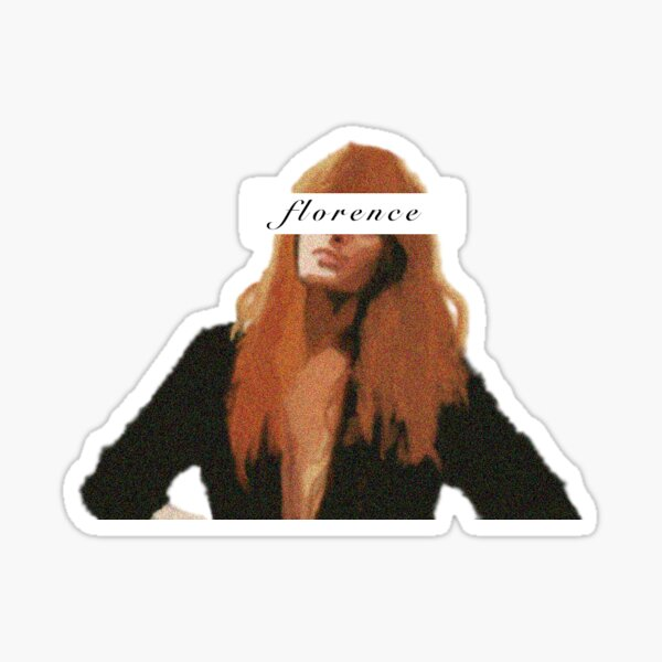 Florence Welch Portrait Sticker