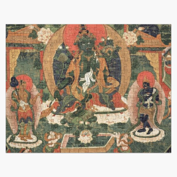 Khadiravani Tara with Marici and Ekajati | Buddhist iconography, Buddhist Jigsaw Puzzle