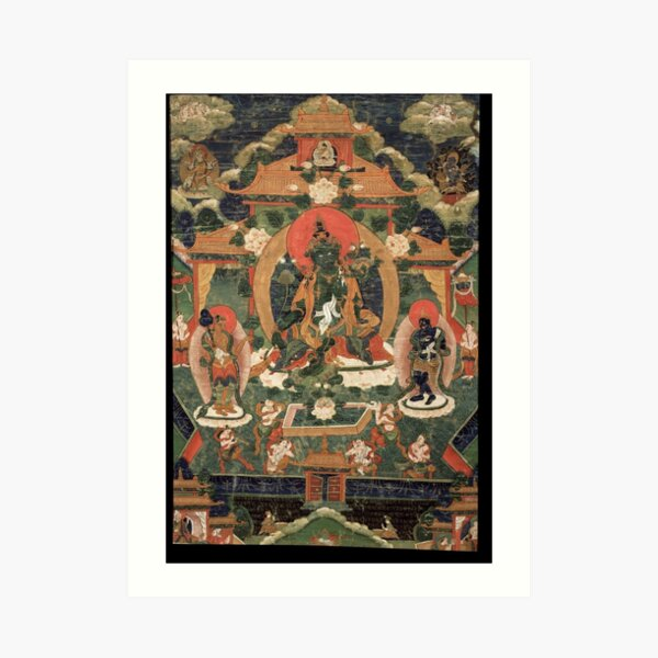 Khadiravani Tara with Marici and Ekajati | Buddhist iconography, Buddhist Art Print