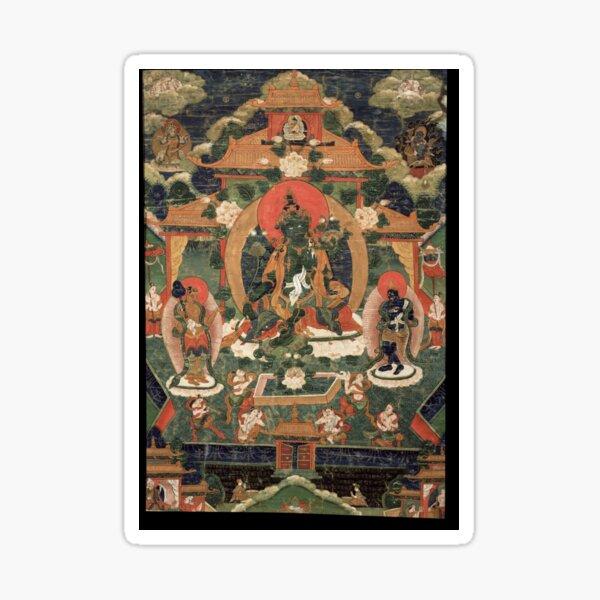 Khadiravani Tara with Marici and Ekajati   Buddhist iconography, Buddhist Sticker