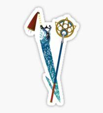 Brotherhood and Staff Sticker