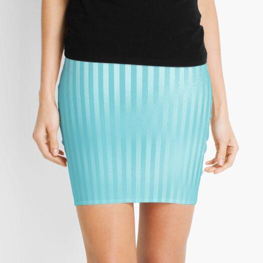 cute pastel serenity blue pattern seamless repeat pattern Mini Skirt