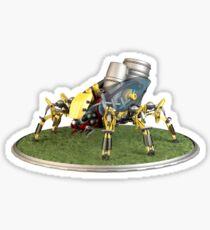 Futuristic Welder Robot Sticker