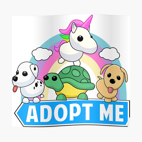 Cute Animal Adopt Poster By Wellsessie Redbubble
