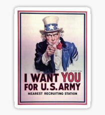 Uncle Sam, 1917 Sticker
