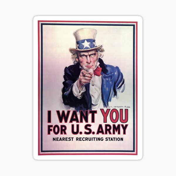 Medium Printed Patch-Sew On UNCLE SAM V He Wants You To Occupy Your Country