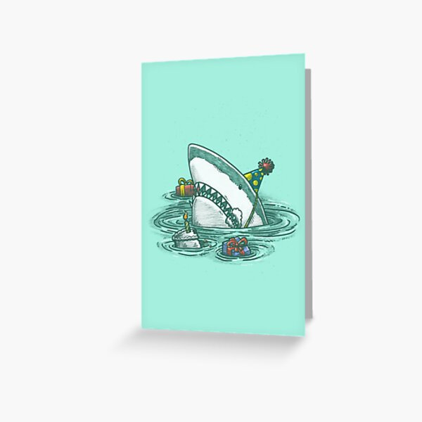 Happy Birthday Shark Greeting Card