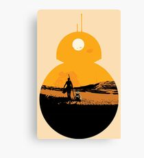 Star Wars The Force Awakens BB8 Poster Canvas Print