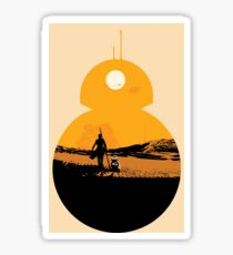 Star Wars The Force Awakens BB8 Poster Sticker