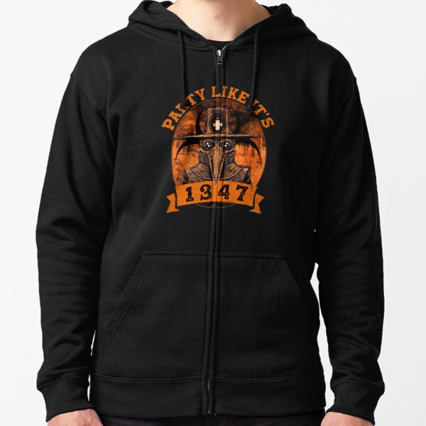 party like it 1347 funny boardgame Zipped Hoodie