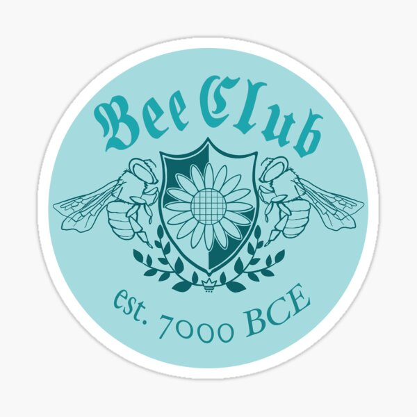 bee club logo blue Sticker