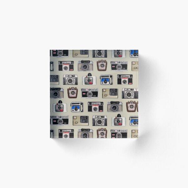 Vintage Cameras - Photography Pattern Acrylic Block