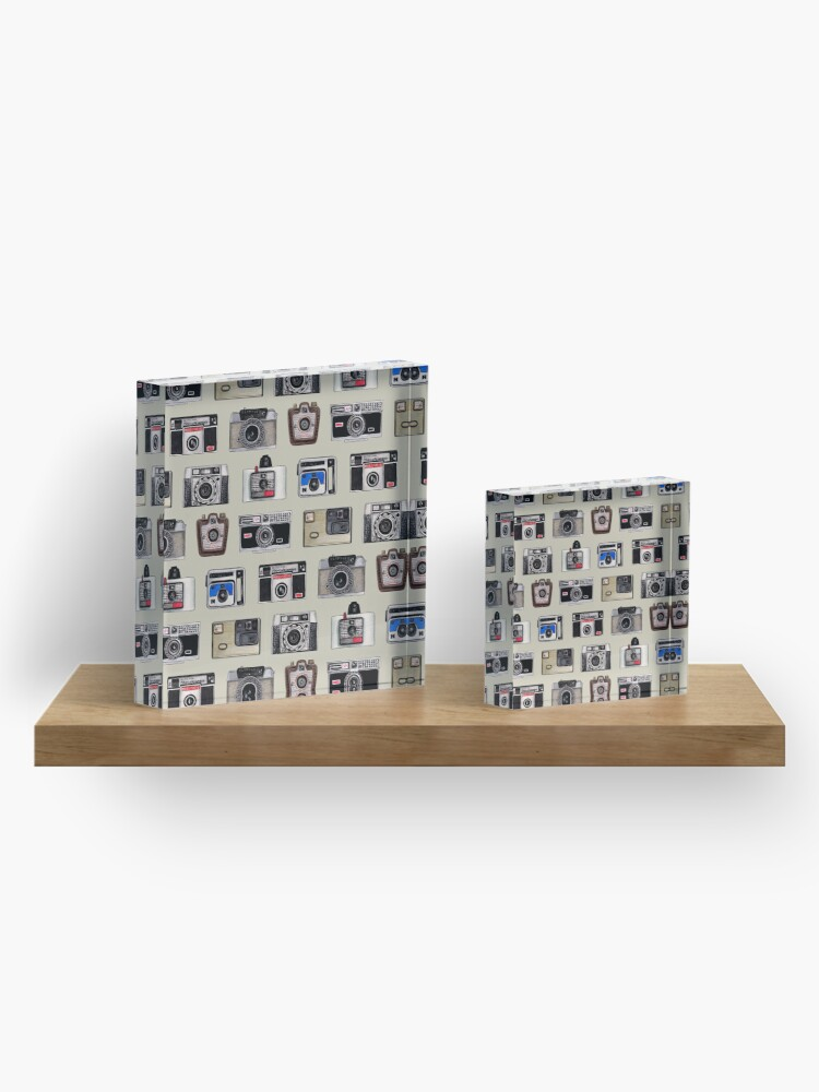 Alternate view of Vintage Cameras - Photography Pattern Acrylic Block