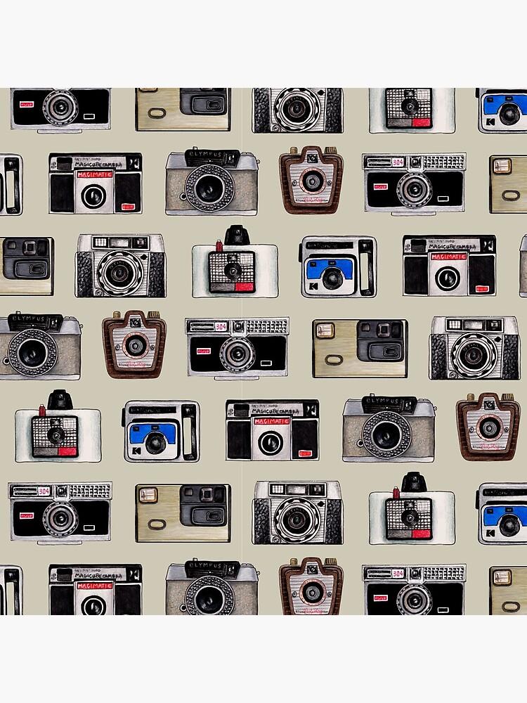 Vintage Cameras - Photography Pattern by somecallmebeth