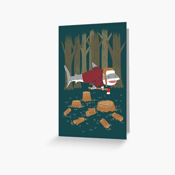 LumberJack Shark Greeting Card