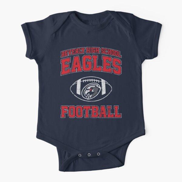 Beverly High School Eagles Football (Variant) Short Sleeve Baby One-Piece