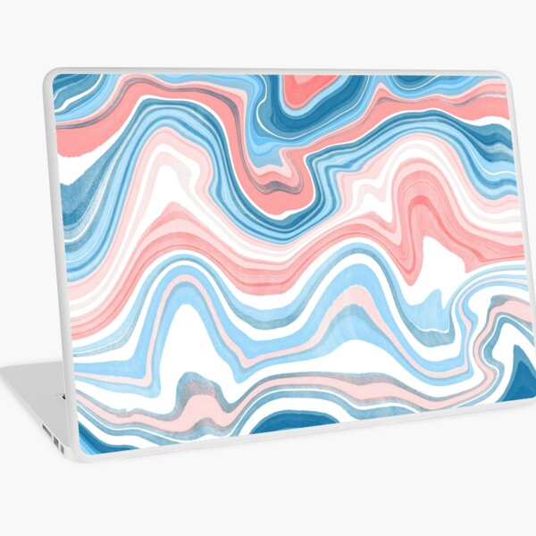 Red/Blue Marble Laptop Skin