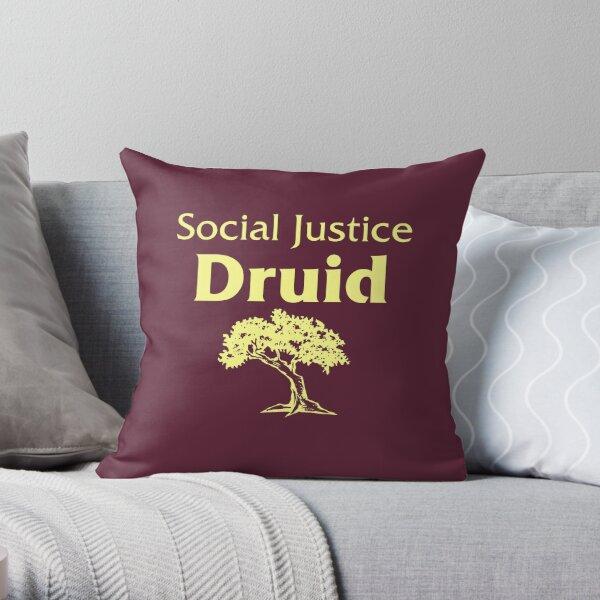 Social Justice Druid Throw Pillow