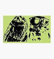 Wise Guys Black Photographic Print