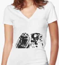 Wise Guys Black Women's Fitted V-Neck T-Shirt
