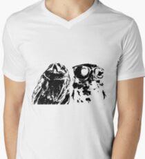 Wise Guys Black Men's V-Neck T-Shirt