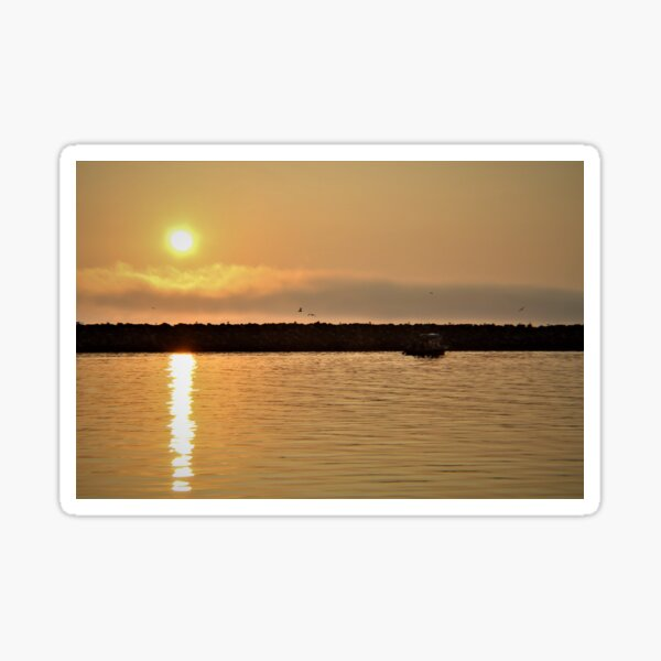 Sunrise over Homer, Alaska  Sticker