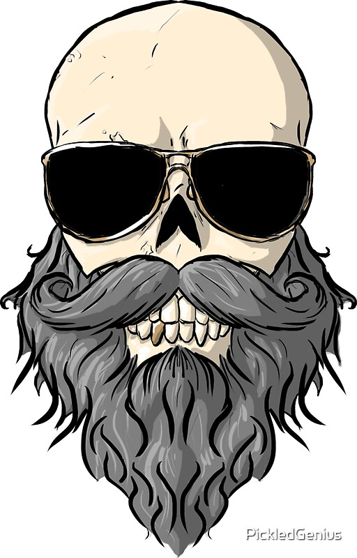 bearded skull stickers by pickledgenius redbubble. Black Bedroom Furniture Sets. Home Design Ideas