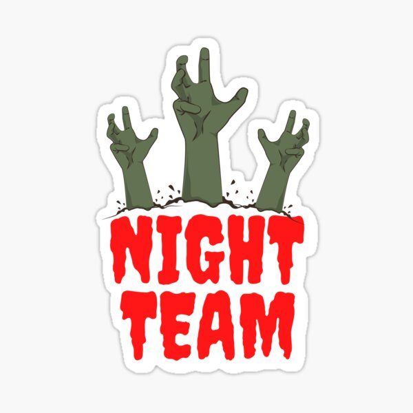Night Team Zombies Emerging Sticker