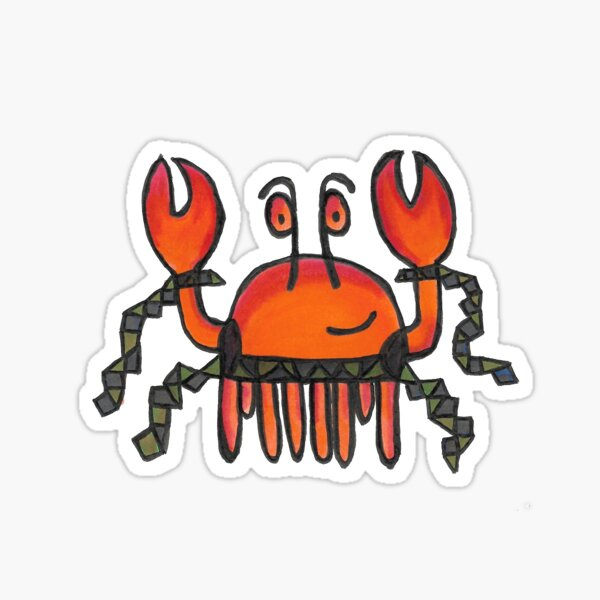 Crab In Sashes Sticker
