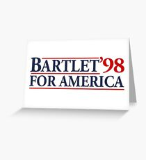 Bartlet for America Slogan Greeting Card