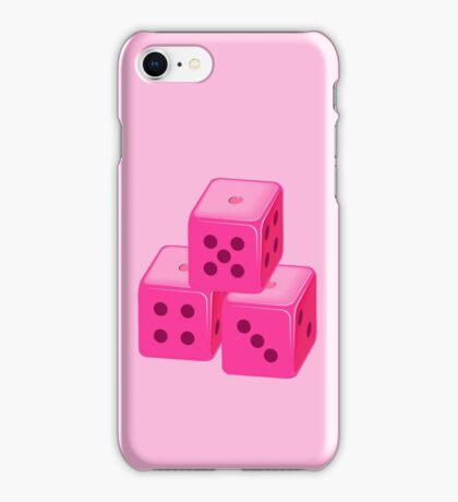 Pink Bunco Dices VRS2 iPhone Case/Skin