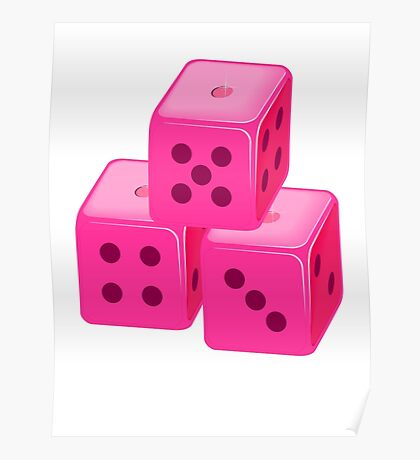 Pink Bunco Dices VRS2 Poster